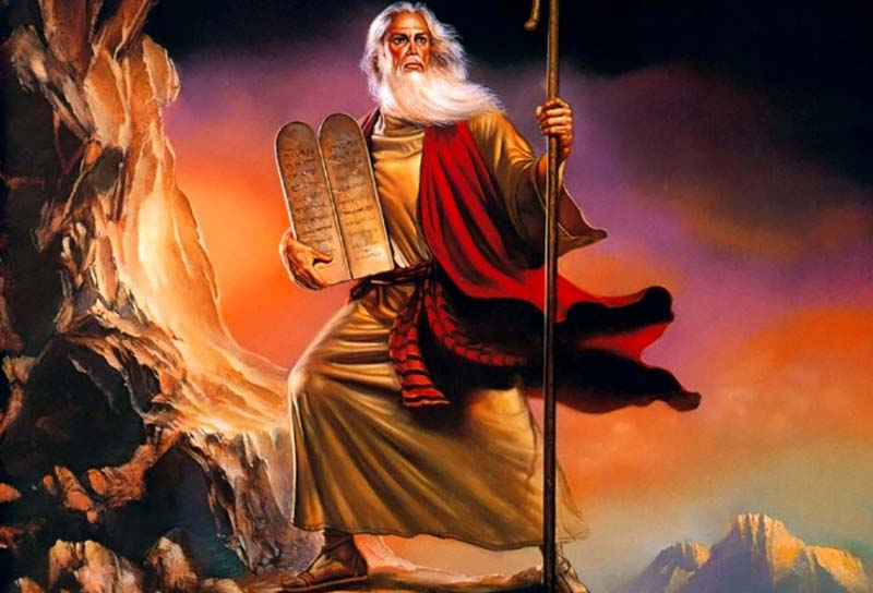 the differences between the biblical account of exodus and the film the ten commandments